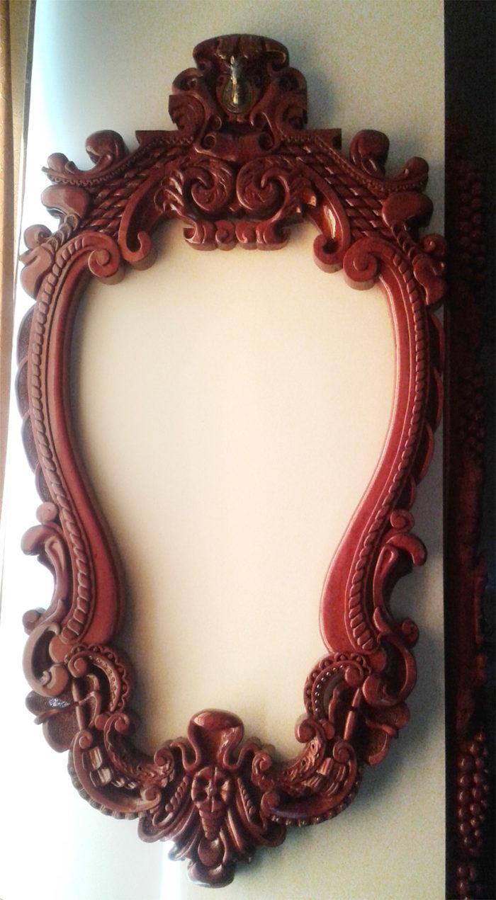 Custom made and carved frame