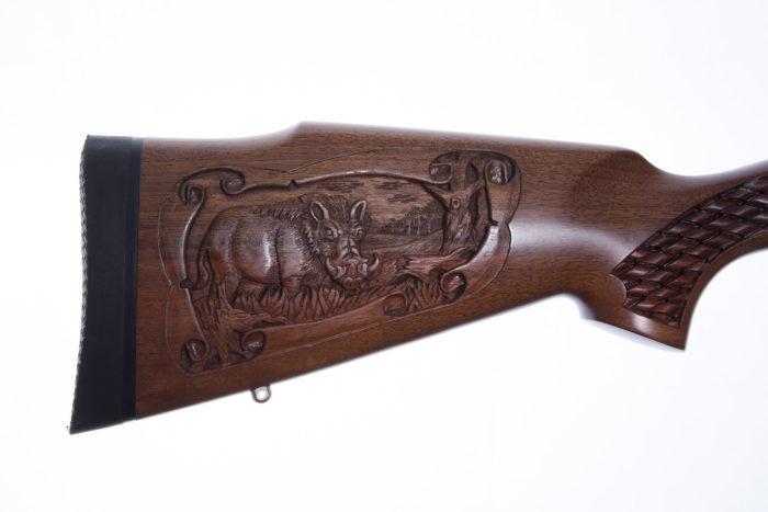 Carved gunstock