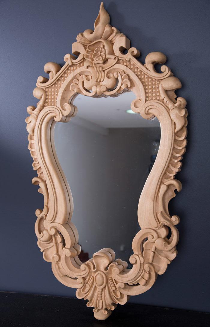 Custom made mirror frame